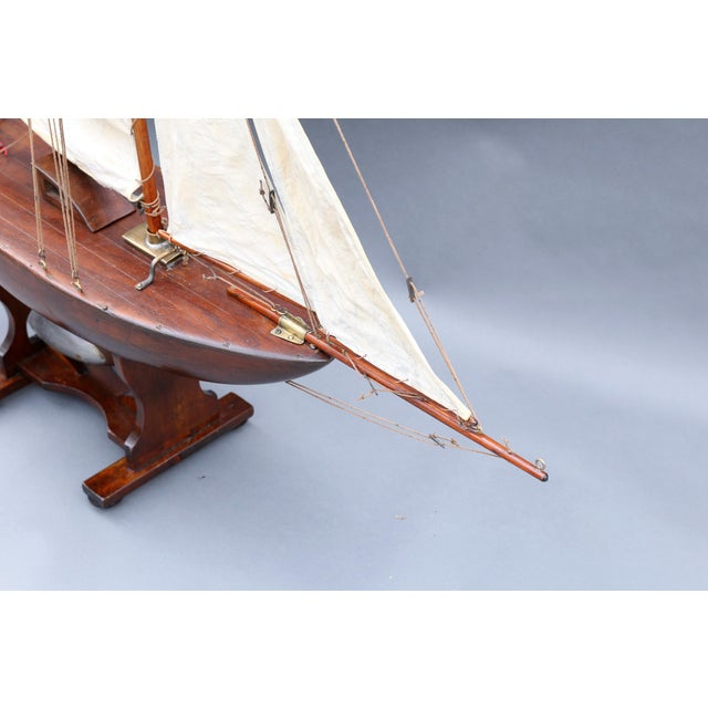 Large Antique English Pond Yacht - Image 7 of 10