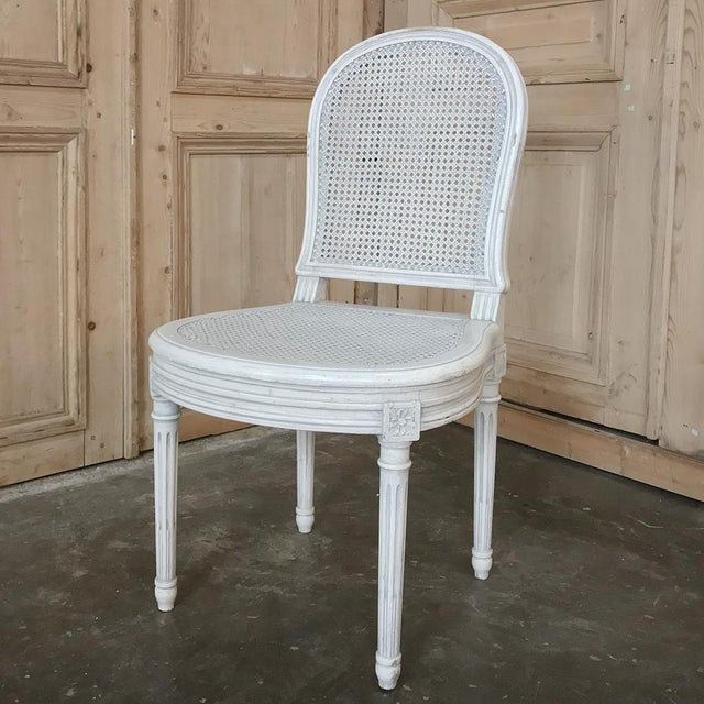 Early 20th Century Antique French Louis XVI Painted Dining Chairs-Set of 8 For Sale - Image 9 of 13