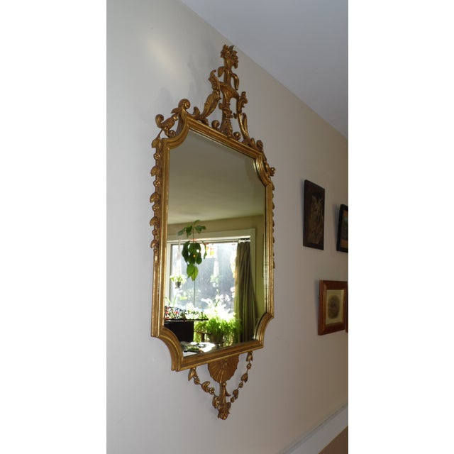 Vintage D Milch Sons Louis Xv Rococo Style Large Gilt Gesso Framed Wall Mirror Chairish