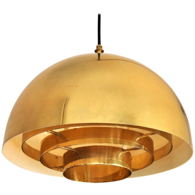 Brass Pendant Lamp by Vereinigte Werkstatten Munchen, 1960s For Sale - Image 10 of 10