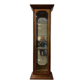 Wood + Glass Display Case For Sale