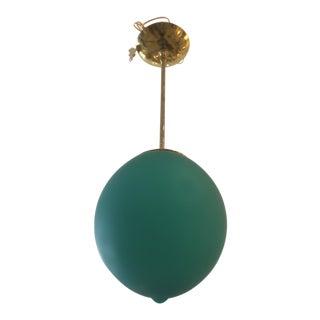 Mid-Century Modern Style Green Murano Glass Pendant Light For Sale