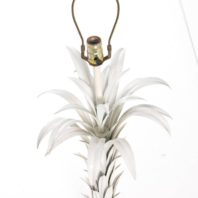 Palm Leaf Tole Lamp For Sale In New York - Image 6 of 10