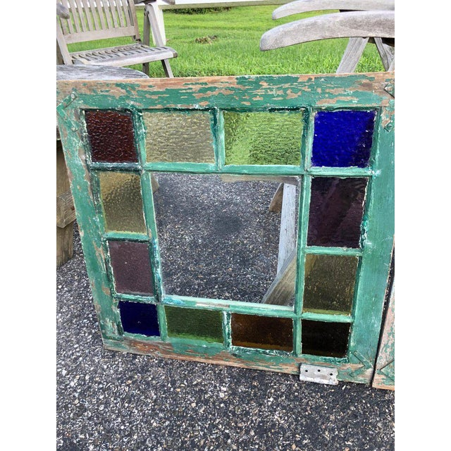 1950s Stained Glass Windows - a Pair For Sale - Image 5 of 13