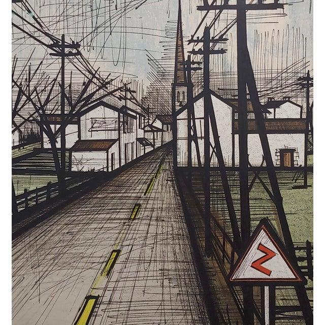Bernard Buffet - French Street -Original 1961 Artist Proof Lithograph For Sale - Image 4 of 10