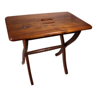 1980s Vintage Southwestern Wood Folding Table For Sale