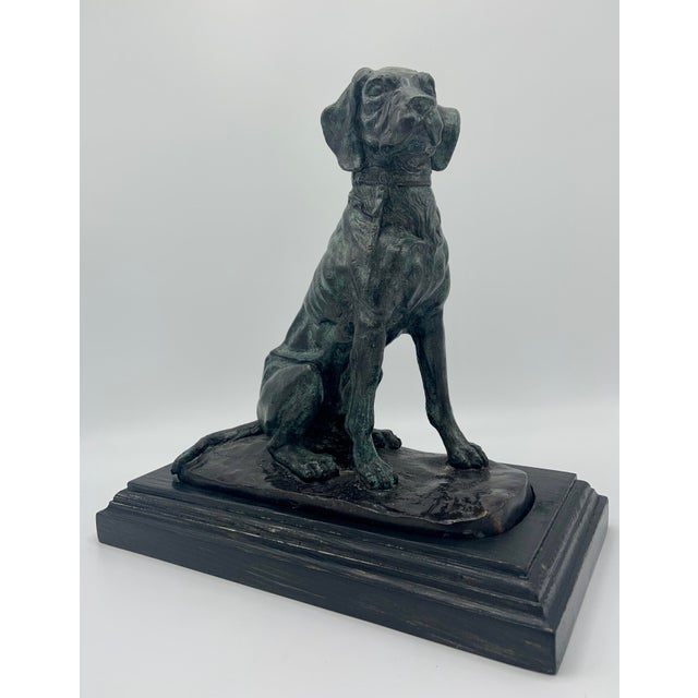 Mid 20th Century Vintage Maitland-Smith Bronze Sporting Dog For Sale - Image 5 of 12