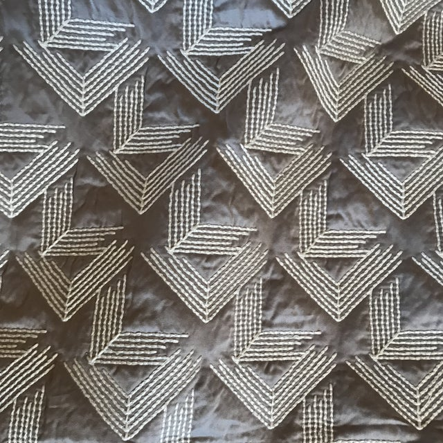 2010s Miles Redd Schumacher V Step Fabric 3 Yards For Sale - Image 5 of 5