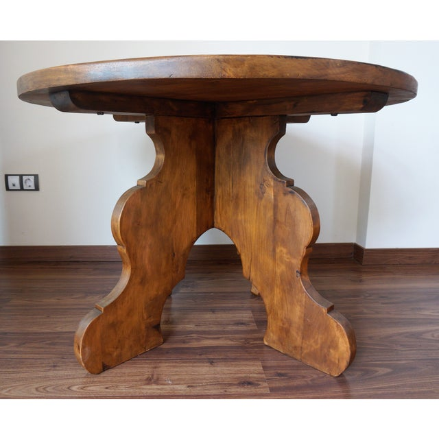 20th Century Rustic Round Coffee Table or Side Table - Image 3 of 7