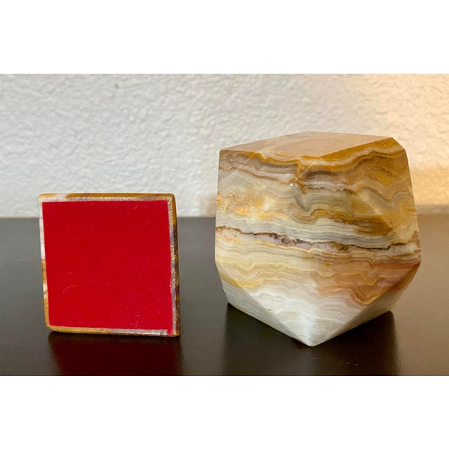 Onyx Geometric Sculptural Desk Paperweights - a Pair For Sale In Saint Louis - Image 6 of 7
