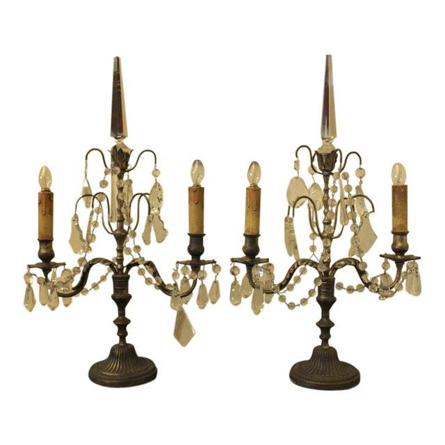19th Century Italian Girondole Lamps - A Pair - Image 1 of 5