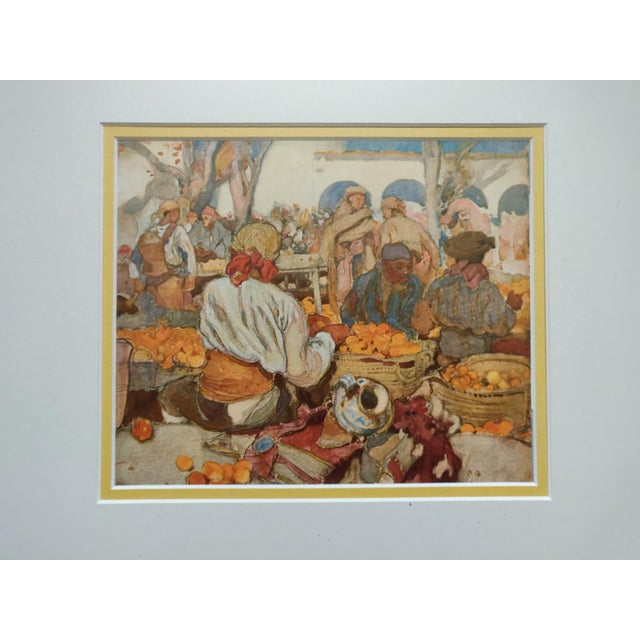 Realism Early 20th Century Antique English Watercolor Print For Sale - Image 3 of 5