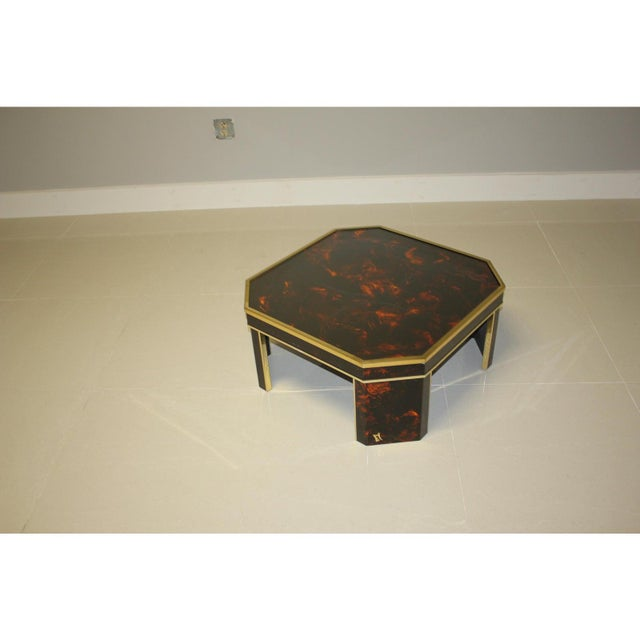 Coffee 1970s French Mid-Century Modern Coffee Table by ''Sign Jean Claude Mahey '' For Sale - Image 8 of 13