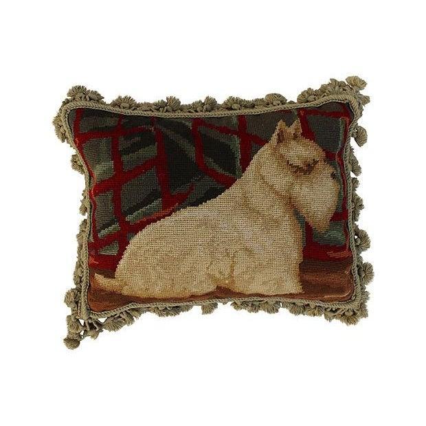 Aubusson Scotty Dog Tassel Pillow - Image 2 of 4