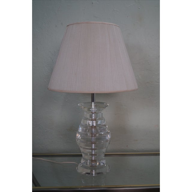Mid-Century Modern Mid-Century Modern Lucite Lamp by George Bullio For Sale - Image 3 of 10