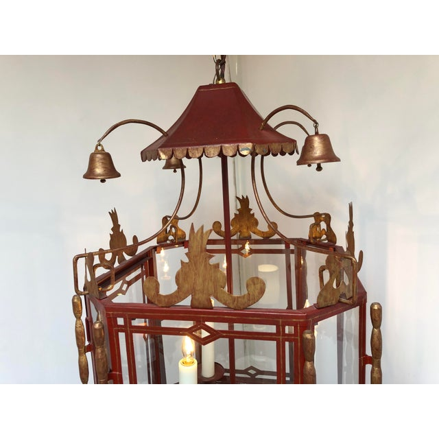 Vintage Chinoiserie Lantern Pendant For Sale - Image 12 of 13