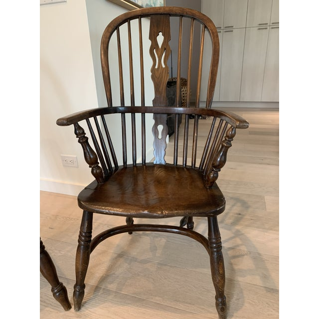Wood Late 19th Century Windsor Chairs - A Pair For Sale - Image 7 of 9