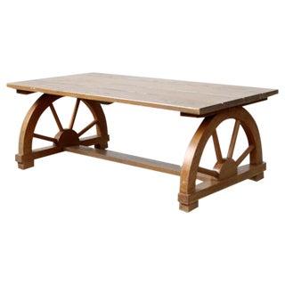 Vintage Wagon Wheel Coffee Table For Sale