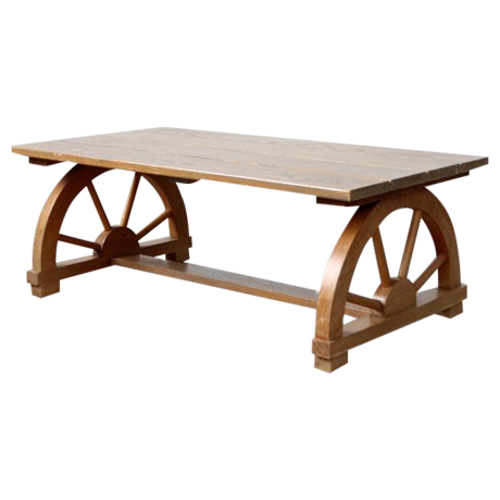 Bon Vintage Wagon Wheel Coffee Table