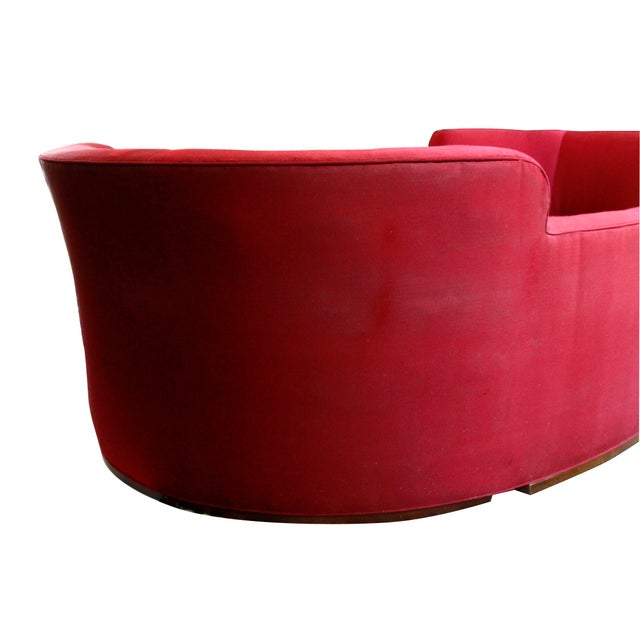 1950s Mid-Century Curved Dunbar Oasis Sofa by Edward Wormley For Sale - Image 5 of 9
