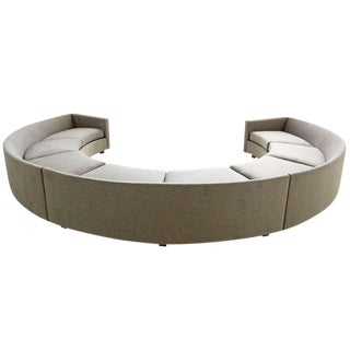Milo Baughman Curved Sectional For Sale