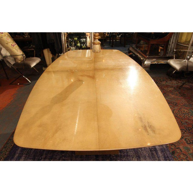 Aldo Tura Lacquered Goatskin Dining Table With Knife-edge Top - Image 4 of 11