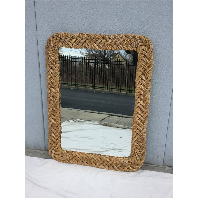 1960's Modern Rattan Mirror - Image 2 of 7
