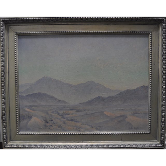 Jean Coutts Desert Landscape Oil Painting - Image 1 of 4