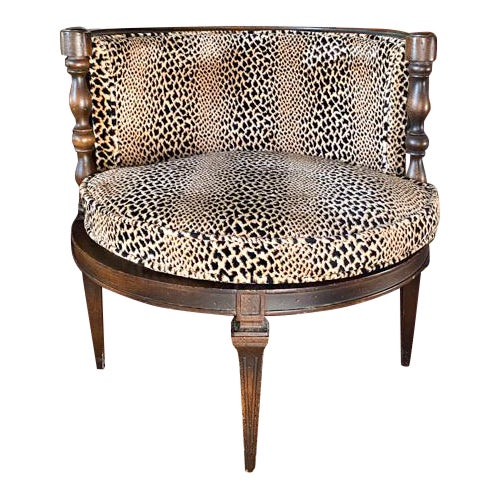 Mid Century Leopard Chair For Sale