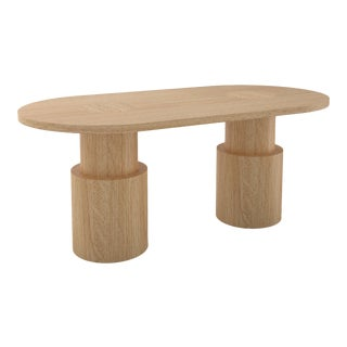 Contemporary 104 Dining Table in Oak by Orphan Work, 2020 For Sale