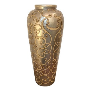 Silver Scroll Detailed Vase