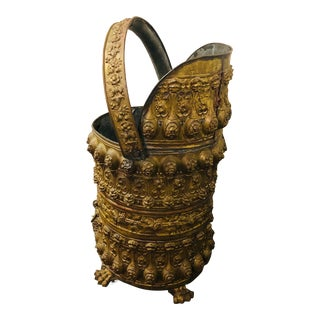 Late 19th Century Brass Victorian Coal Scuttle For Sale