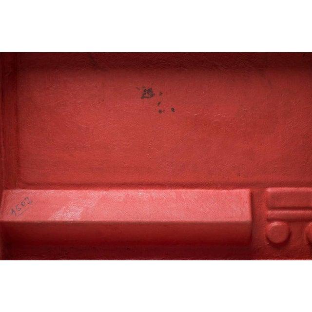 Fiberglass Red Fiberglass Desk by Marc Berthier For Sale - Image 7 of 8