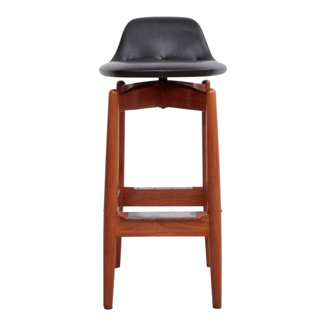 Pair of Arne Vodder Teak Bar Stools for Sibast Furniture For Sale