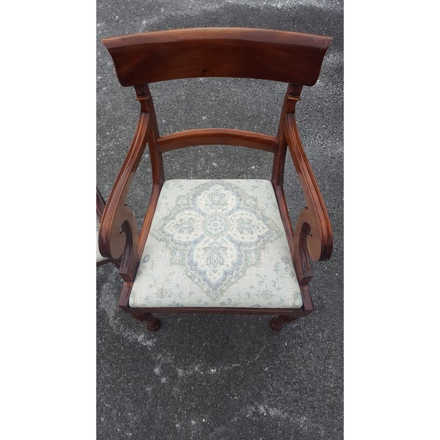 Traditional Wood Arm Chairs - A Pair - Image 6 of 7