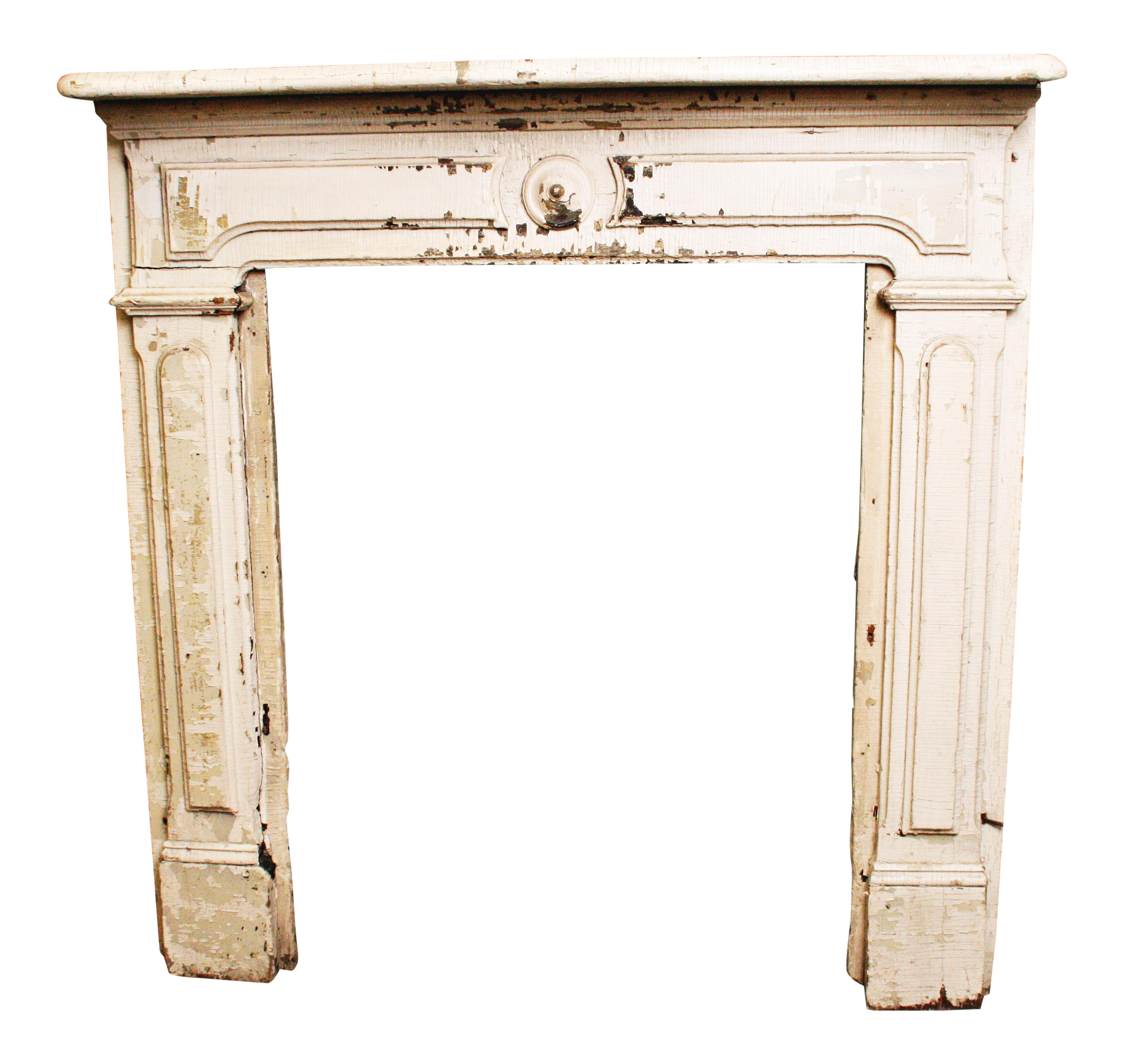Antique white mantel shelf