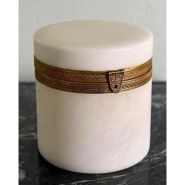 Alabaster Italian Alabaster Ormolu Box For Sale - Image 7 of 7