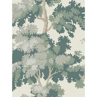 Sample, Scalamandre Raphael, Green Wallpaper For Sale