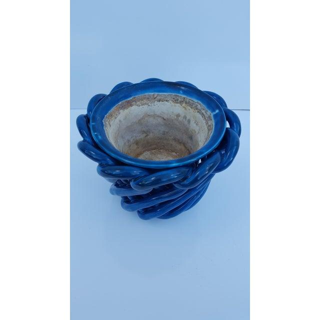 Vintage Blue Turquoise Decorative Planter Pot. - Image 2 of 8