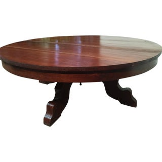 Hand-Hewn Cherry Coffee Table For Sale