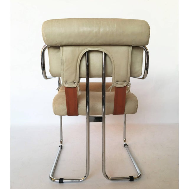 "Animal Skin Guido Faleschini Italian Leather ""Tucroma"" Chair by I4 Mariani for Pace For Sale - Image 7 of 9"