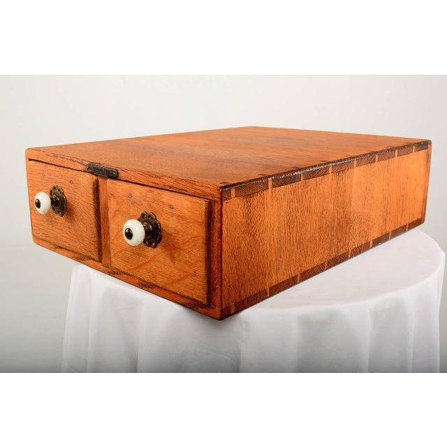 Vintage Oak File Box For Sale - Image 4 of 9