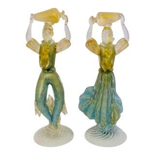 Barbini for Murano Mid-Century Modern Figurines - Pair