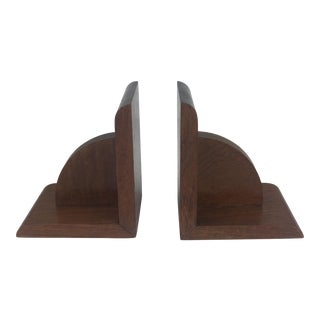French Art Deco Era, Wooden Bookends - a Pair For Sale