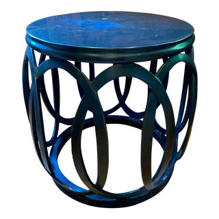 1990s Chinoiserie Barbara Barry Bracelet Drum Table For Sale