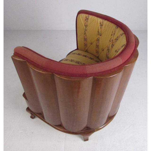 1950s Vintage Barrel Back Italian Side Chairs - A Pair For Sale - Image 5 of 11