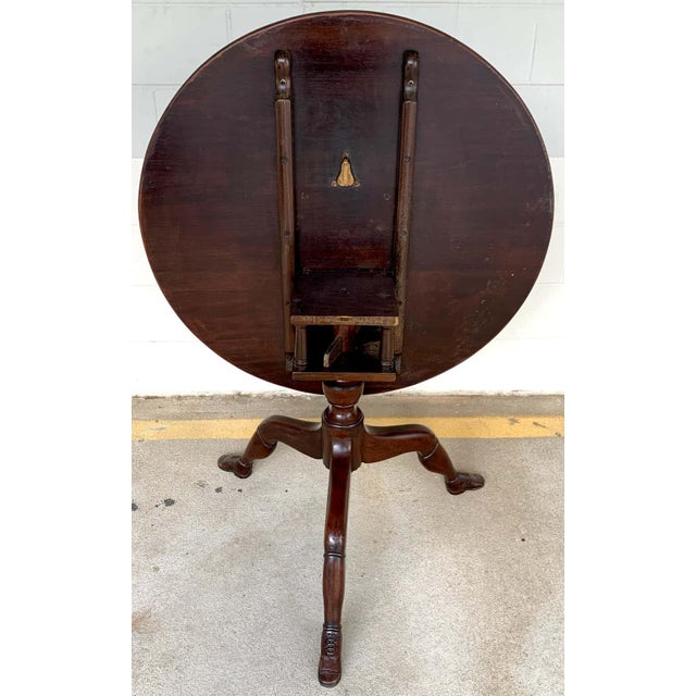 19th Century English Lady Leg Birdcage Tilt Top Table For Sale - Image 10 of 12