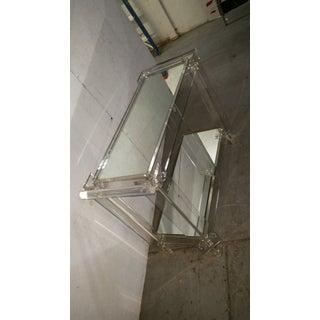 Mid-Century Modern Lucite Mirrored Shelves Bar Cart Preview