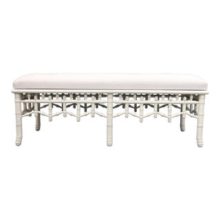 Modern Bamboo Style Legs and Frame Bench For Sale