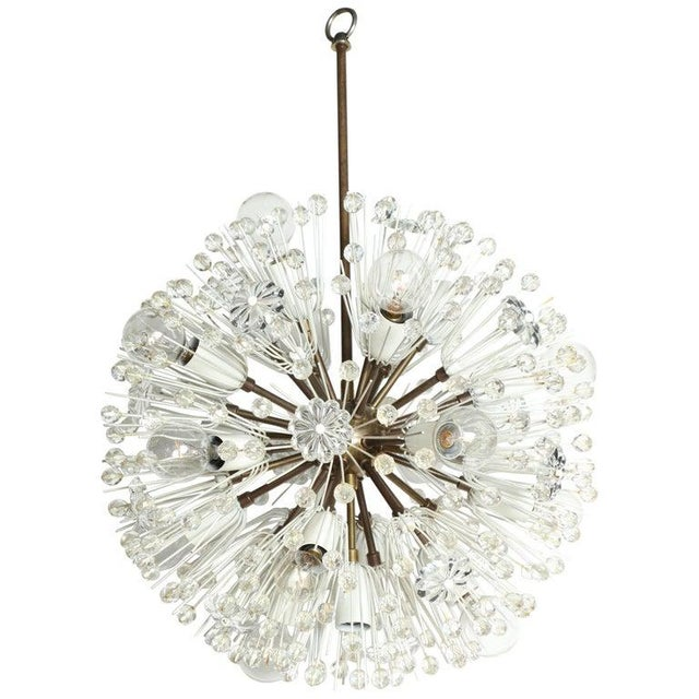 """1950s Emil Stejnar """"Snowball"""" Brass and Hand Cut Crystal Hanging Pendant For Sale - Image 10 of 10"""